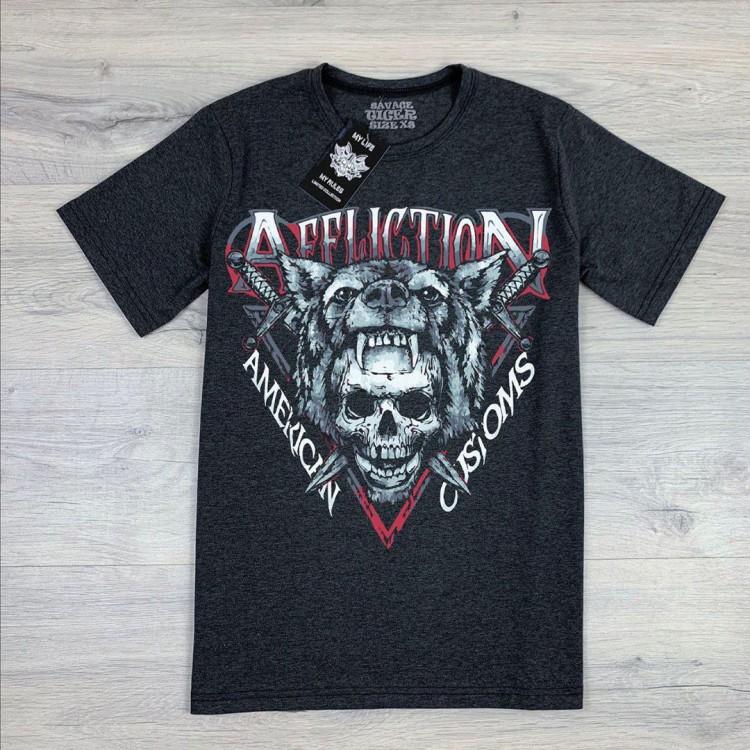 Футболка Affliction American Customs ( Dark gray )