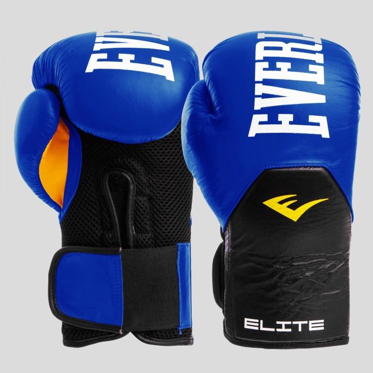 Боксерские перчатки Everlast Elite blue