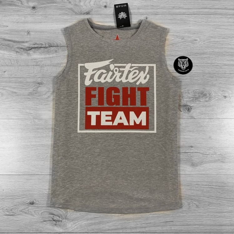 Майка Fairtex Fight Team Gray/Red
