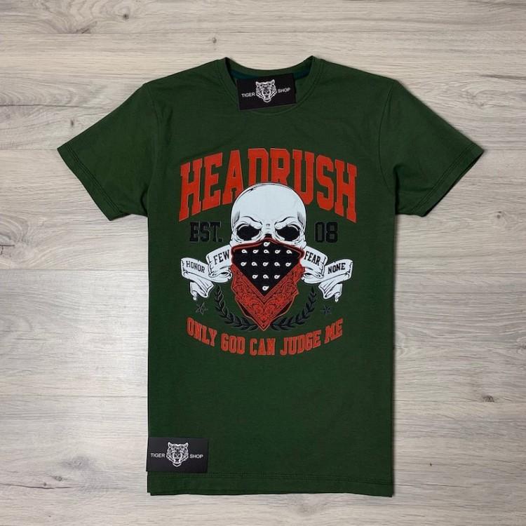 Футболка Headrush Jim Miller Fear None Walkout T-Shirt Green