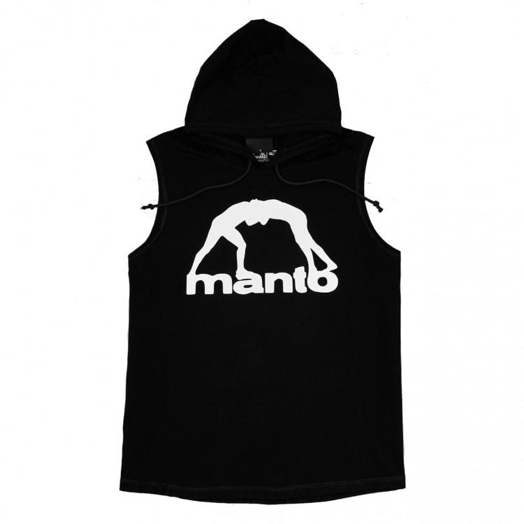 Безрукавка MANTO Classic Logo White black