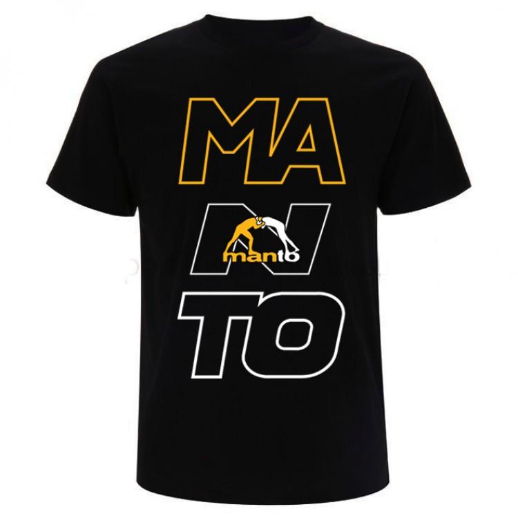 Мужская футболка Manto Big Letters black