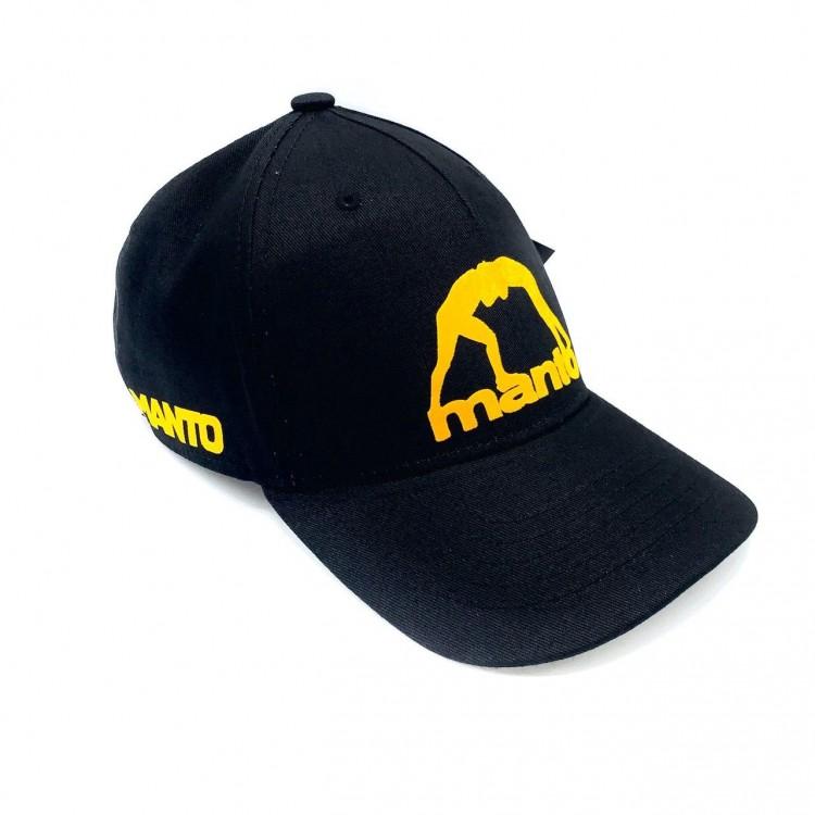 Бейсболка Manto Logo Classic black/yellow