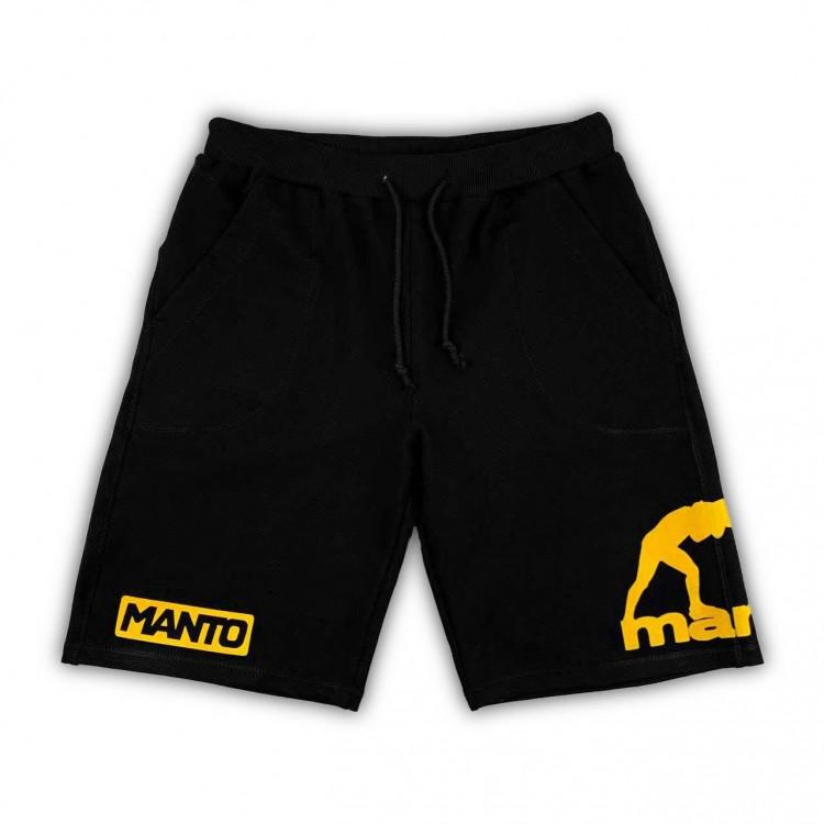 Шорты Manto Sport Shorts Emblem black/yellow