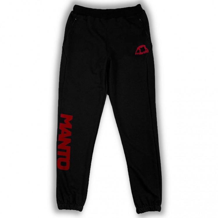 Спортивные штаны Manto Logo Triple Cotton black/red