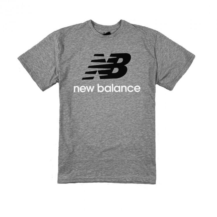 New Balance Essentials Stacked Logo gray