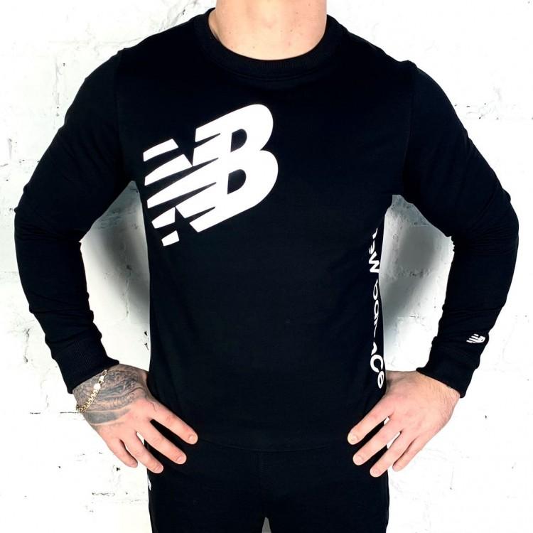 Свитшот New Balance Athletics Longsleeve black/white