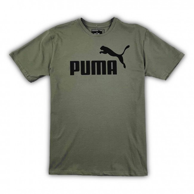 Мужская Футболка Puma Logo Classic khaki