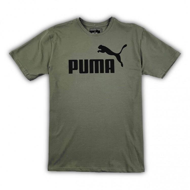 Футболка Puma Logo Classic khaki
