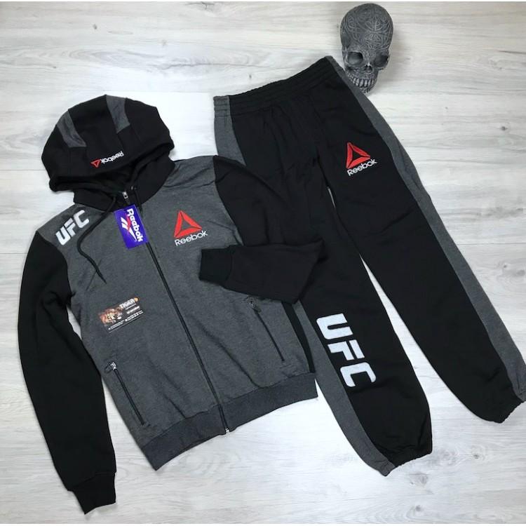 Спортивный Костюм REEBOK UFC(Black \Gray)FIGHTER