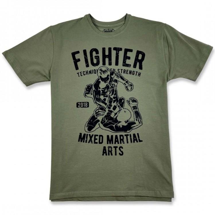 Мужская футболка ST MMA FIGHTER khaki