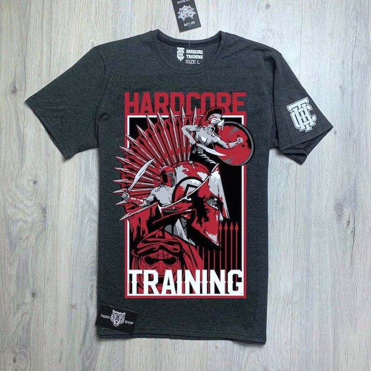Футболка Hardcore training Spartan (dark gray)