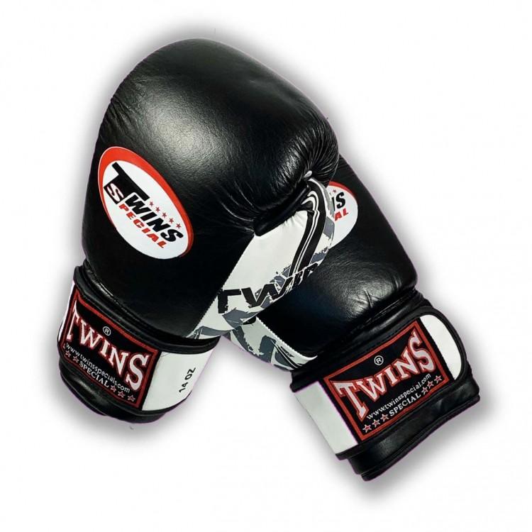 Боксерские перчатки Twins classic new black