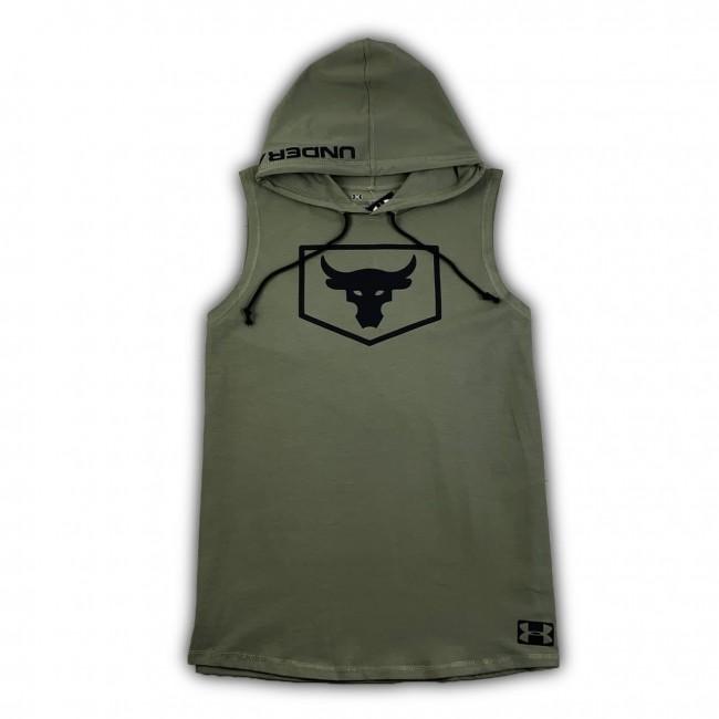 Безрукавка UA Yoox Poject Rock Warmup Top khaki