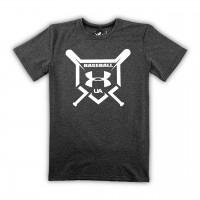 Футболка UA Baseball Logo Short Sleeve gray