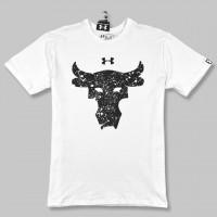 Футболка Under Armour Project Rock Bull white/black