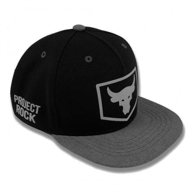 Snapback Under Armour Project Rock black/gray