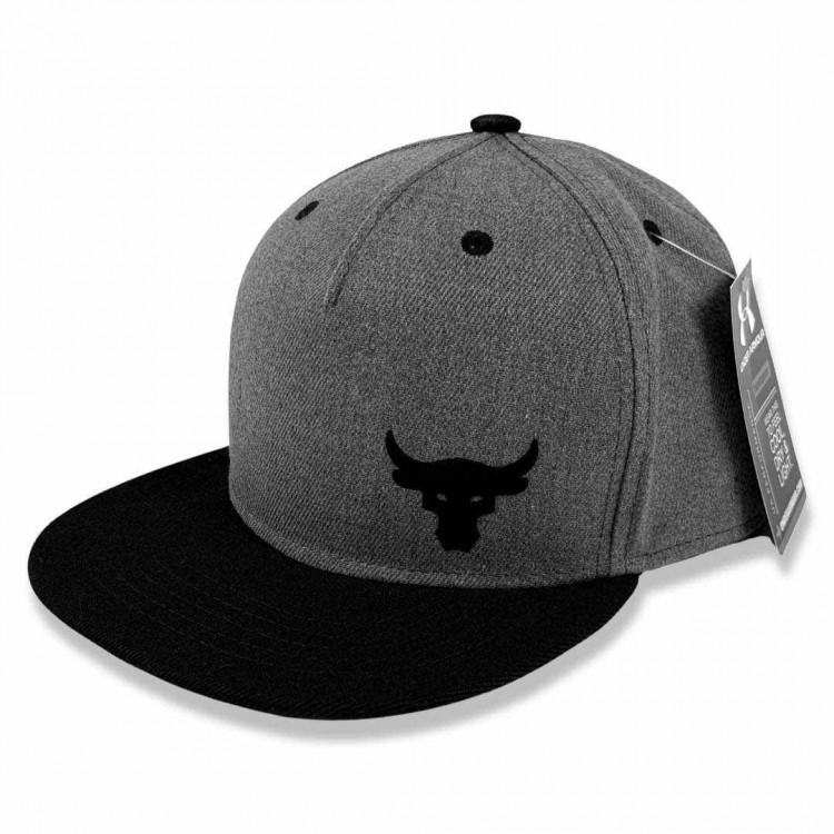 Snapback UA Project Rock Little Logo gray/black