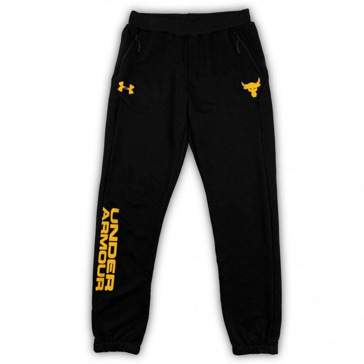 Спортивные штаны UA PROJECT ROCK TERRY SS HOOD black/yellow