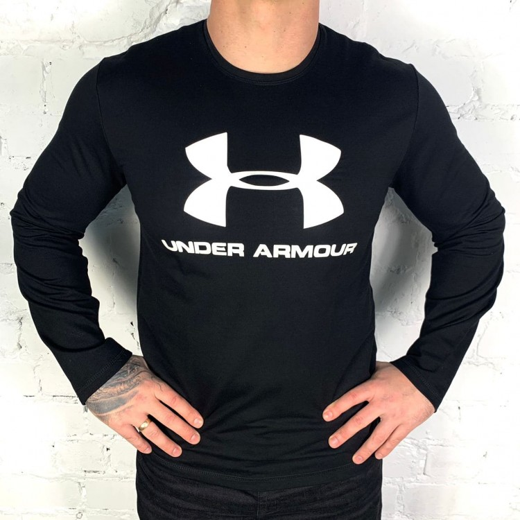 Лонгслив Under Armour Sportstyle Logo SS black/white